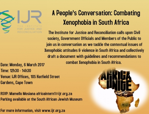 Invitation: A People's Conversation – Combating Xenophobia in SA
