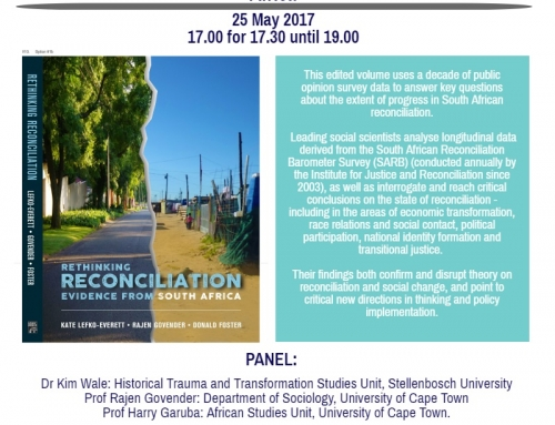 "Book launch invitation to ""Rethinking Reconciliation: Evidence from South Africa"""